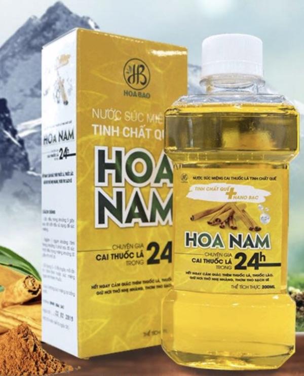 Review nước súc miệng cai thuốc lá Hoa Nam có tốt không hay chỉ là quoảng cáo?